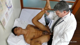 asian patient in Doctor's exam room for some anal attention