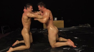 naked wrestling with Oleg Hubert & Leo Dinar