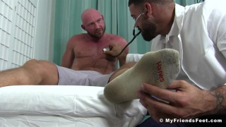 Ricky Larkin worships Killian Knox's socked and bare feet