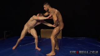 wrestling with Leo Lombar and Petr Jarena