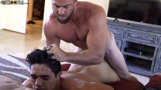 bearded stud fucks a ripped guys bubble butt