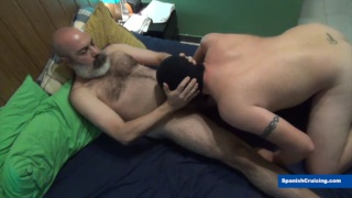 masked bottom devours the man's cock before getting fucked