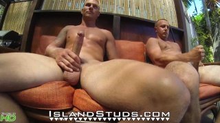 Lumberjacks piss and jerk off at Island Studs