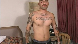 Hot laitno gets naked and strokes