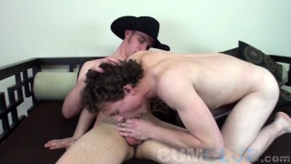 18-year-old Cowboy gets his cum load swallowed