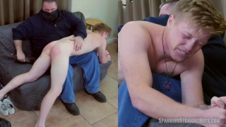 20-year-old straight military boy's First Spanking