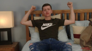 fit young lad Joe Appleton jerks off
