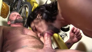 DADDY CHRISTIAN matthews GETS HIS POLE POLISHED by maxx stoner