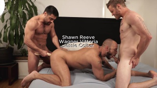 Ganged, Banged, And Pounded with JESSIE COLTER TAKES WAGNER VITTORIA AND SHAWN REEVE