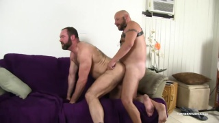 Topher phoenix gets train fucked on the couch
