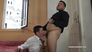 priest catching a young lad masturbating and has sex with him