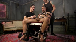 over the edge with Dante Colle getting stroked and edged