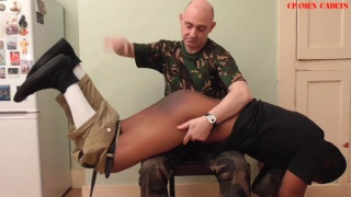 Private Stephens Goes Awol and gets a spanking