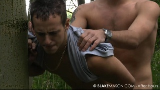Sucking and fucked big cock in the woods