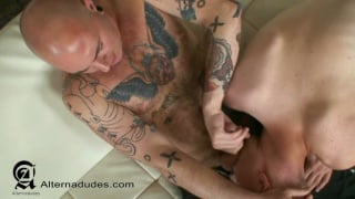 Twink Blows Tatted Boxer