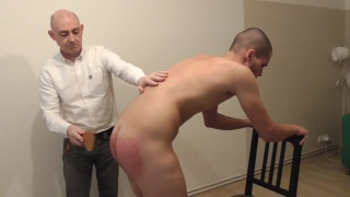 Houseboy needs a spanking to show him how to do a good job