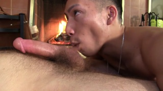 WILLIAM crown'S HOT BJ BY THE FIRE from david ace