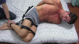 Sergey Hogtied & Tickled at My Friends Feet