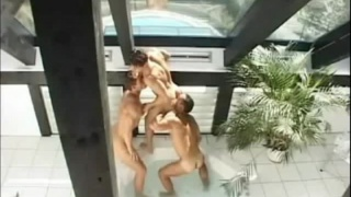 Hot Tub Muscle Foursome
