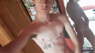 trans boy olly Jackson likes showing off his pussy