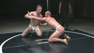 naked oil wrestling match