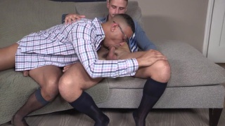After work seduction with Jackson Reed & Zario Travezz
