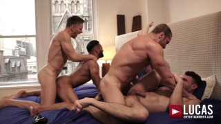 bred from behind with STAS LANDON & ANDREY VIC fucking IAN GREENE AND SERGIO