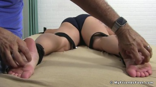 strong silent type begs for the tickling to stop