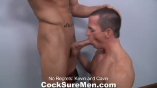 two hunks take their time exploring each other