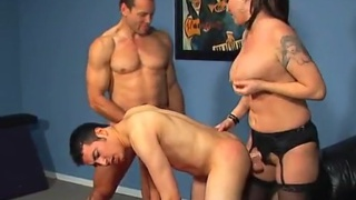Ride my strap-on cock