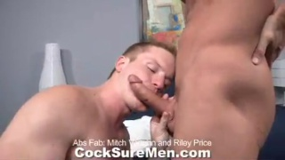 Mitch servicing Riley's big dick