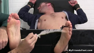 first day of training & worker is bound for tickling session