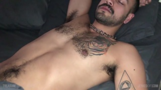 DEV TYLER sleeps soundly while gets his cock stroked