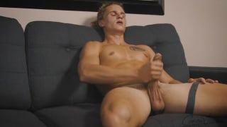 blond soccer jock shows off his hot dick