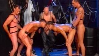 Hot Studs In A BDSM Orgy