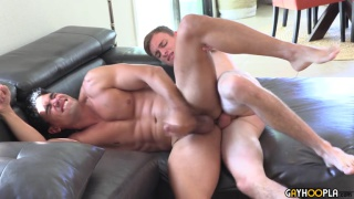 guy can't get enough of hot studs pounding his ass