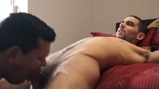 latino hunk returns two years later for his first blowjob