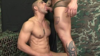 Military Sucking Cock