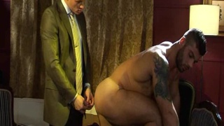 Italian hunk forced to strip and submit
