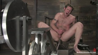 Hairy Blond Guy Fucked by Machine