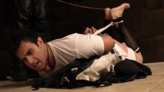 Hogtied and Caned