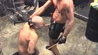 Slave Abused by Leather Master