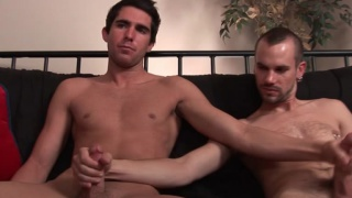 Straight Hunk Jacks Off With Another Guy!