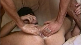 Big dildos and fists make these gay studs cum