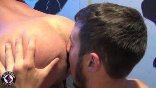 Leather Daddy Boy Scene