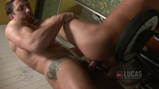 Alex Andrews Services Jimmy Durano's Uncut Cock in Public