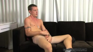Military Boy Jerks His Hot Dick!