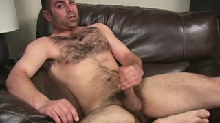 Furry chested str8 guy loves to jack off