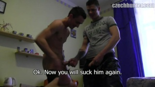 2 Straight Guys Fuck a Sex Toy
