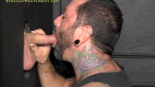 Tatted Stud Blown at Glory Hole